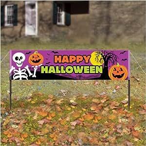 1.5m Bannière Happy Halloween pour le jardin