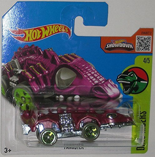 Purple Fangster Hot Wheels 2016Dino Riders Series 1: 64Scale Collectible Die Cast Metal Toy denn Model # 4/5MAN International Shorts Card -