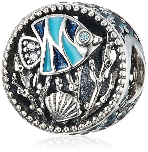 Pandora Unterwasserwelt Damen Charm 925 Sterlingsilber 11 mm (Fischen Urlaub)