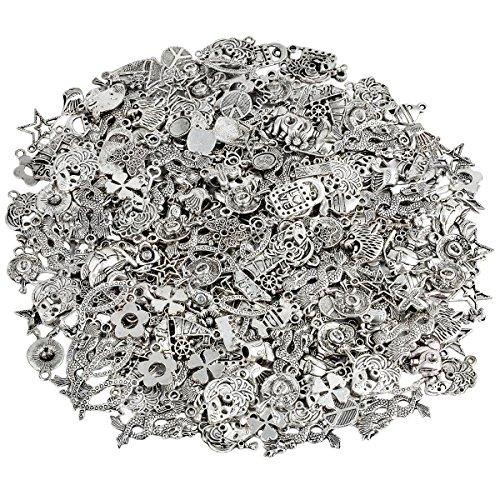 KYEYGWO 230 Gramm Verschiedene Legierung Perlen Spacer, Tibetischen Stil Europäischen Perlen für Schmuck DIY Machen Armbänder Charms 42 Mm Kit