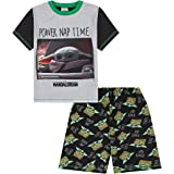 Boys Disney Star Wars Baby Yoda The Mandalorian Power Nap Short Pyjama Set
