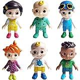 Cocomelon Mini Juego de Figuras, Hilloly 6 Piezas Juego de Minifiguras de Cocomelon Suministros para Fiesta de cumpleaños Fig