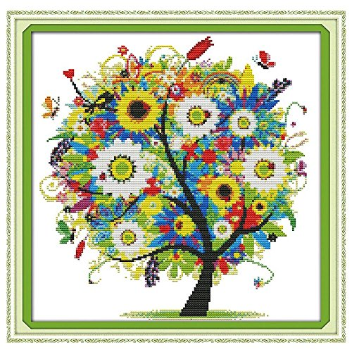 anself-diy-handmade-needlework-counted-cross-stitch-set-embroidery-kit-14ct-colorful-tree-pattern-cr