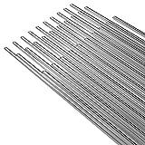 KKmoon Filo di Saldatura- 50Pezzi 2mm * 500mm Saldatura a Filo in Alluminio a Vassa Temperatura per Saldatura a Filo Al Saldatura Nessuna Polvere di Saldatura