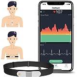 ViATOM Monitor de Ritmo Cardíaco Cinturón Torácico, Bluetooth ANT+, Monitor de ECG con Cojinetes de Ejercicio, Se Puede Usar
