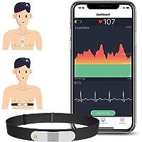 ViATOM Moniteur de Fréquence Cardiaque, Sangle de Poitrine, Capteur de Fréquence Cardiaque, Bluetooth Ant+, Moniteur ECG…