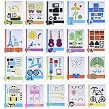 Aibecy 20pcs / pack 3D Papier Modèles Impression Pen Photo Mould Cartoon DIY