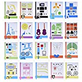 Aibecy 20pcs/pack Creative 3D Printing Pen Picture Drawing Paper Mould Cartoon DIY Children Gift Toy
