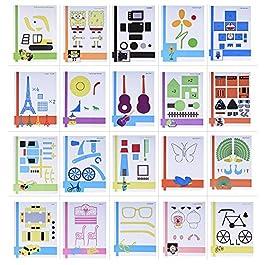 Aibecy 20PCS/Pack creative 3D penna stampa foto carta da disegno Mould Cartoon DIY Children Gift Toy