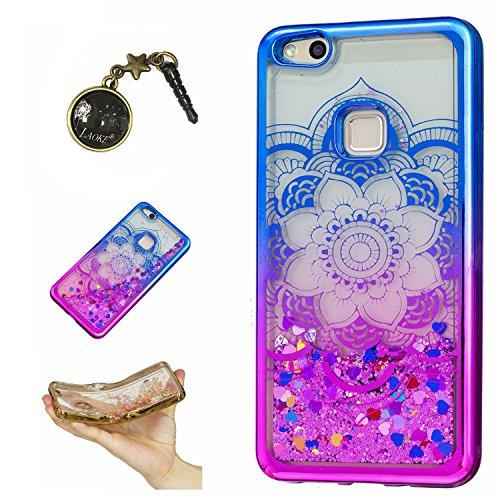 Preisvergleich Produktbild Laoke für Huawei P10 Lite Hülle Schutzhülle Handy TPU Silikon Hülle Case Cover Durchsichtig Gel Tasche Bumper ( + Stöpsel Staubschutz) (5)