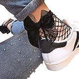 Vovotrade Femmes Chaussettes à Volants Filet de Pêche à Bascule Sexy Chaussettes Courtes (Noir)