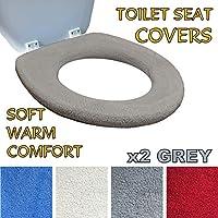 Toilettensitzabdeckung – Superwarmes Fleece – Metall Sicherungsscheibe –  Universalgröße - Maschinenwäsche ... 5279d62b37