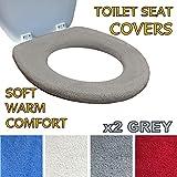 Toilettensitzabdeckung – Superwarmes Fleece – Metall Sicherungsscheibe – Universalgröße -