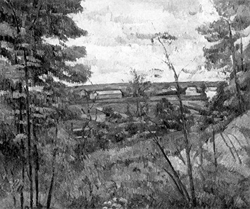 Bilderdepot24 Vlies Fototapete Paul Cézanne - Alte Meister - Das Tal der Oise - schwarz Weiss - 120x100 cm - mit Kleister - Poster - Foto auf Tapete - Wandbild - Wandtapete - Vliestapete -
