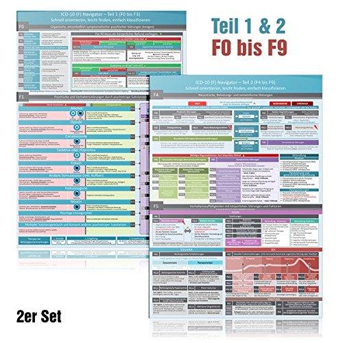 ICD-10 (F) Navigator Duo-Set komplett (2018) - Ideal zur Prüfungsvorbereitung für Heilpraktiker Psychotherapie (PSY) - Teil 1 & 2 (F0 bis F9):- ... leicht finden, einfach klassifizieren
