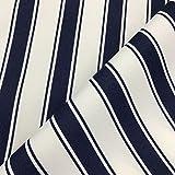 Vertikale Streifen marineblau blau Gewebe der weiche