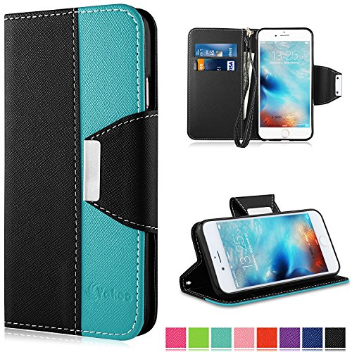 Coque iPhone 6, Vakoo iPhone 6S Coque Case Housse Etui TPU Bumper Cover pour Apple iPhone 6 / 6S (Noir Bleu) iPhone 6 Noir Bleu