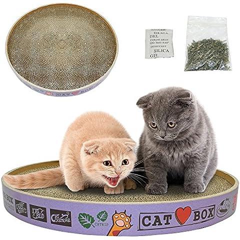 syalex (TM) Ronda rascador de cartón corrugado Cat Kitten Play Toys arañar de gatos sofá salón cama con