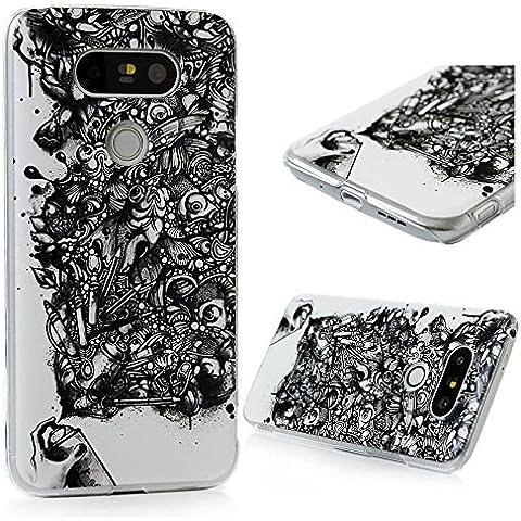 LG G5 Funda Cubierta - Lanveni® Chic Elegante Carcasa Rigida PC ultra Slim para LG G5 Pintura Translúcido Protective Case - Patrón la carpa de tinta Diseño