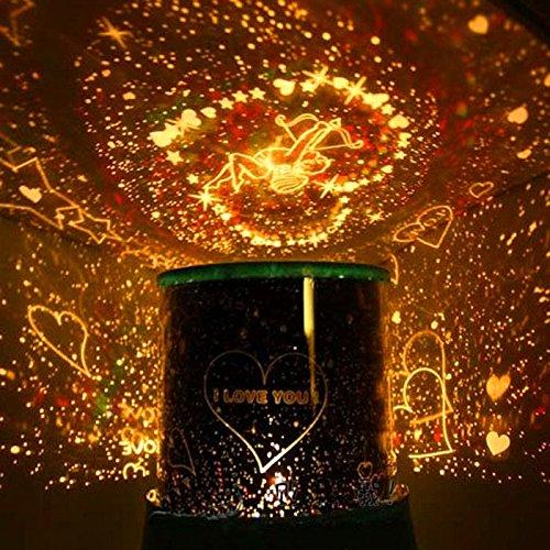 HundGold 1 Stk zufällig Musik Auto Drehen Himmel Sternenlicht Romantische LED Nachtlicht Projektor Lampen Ausgangsdekoration Weihnachtsgeburtstagsgeschenk(zufällig)