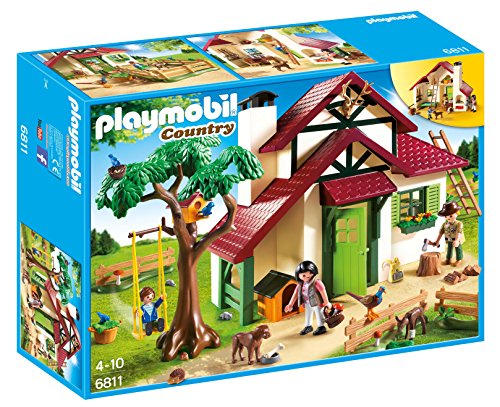 Playmobil- Forest Ranger's House Playset, (6811)