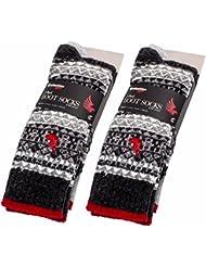 Brubaker Lot de 4Homme Norvégien Bateau Chaussettes Coton