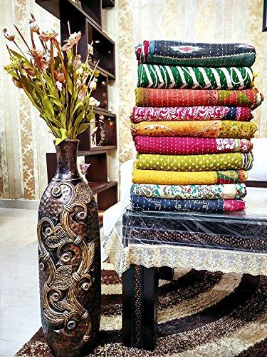 Indische Bengali Vintage Kantha Quilts Marusthali 20 Stück Gesamtangebot Lot von Indischen Tribal Kantha Quilts Vintage Baumwolle Bettdecke werfen Old Sari Assorted Patches gemacht Rally Decke gemacht (Werfen Patch Quilt Decke)