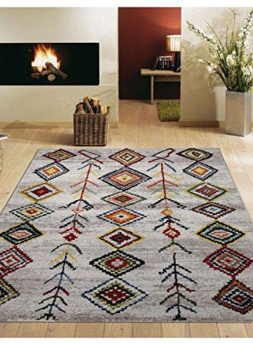 wecon home Medina Moderner Markenteppich, Polypropylen, Mehrfarbig, 170 x 120 x 1.3 cm