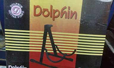 Dolphin DOL-FS Guitar Metal Floor Stand with Plectrum Holder & 5 Plectrums