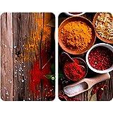 Wenko Juego de Cubiertas de Cocina Universal Especias, Vidrio, Multicolor, 52x30x4.5 cm, 2 Unidades