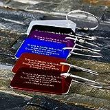 Personalisierte Kofferanhänger Satz - 6Stuck - Kostenlose Namegravur, Addresse-, Logo Gravur – Beste Geschenke für Reisender, Student, Camper, Backpacker, oder als Großhandel Werbemitte, Werbegeschenke, Werbeartikel