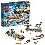 LEGO- City Quartier Generale della Guardia Costiera Costruzioni Piccole Gioco Bambino, Multicolore, 60167  LEGO