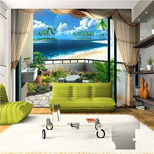 Wapel Wallpaper Strand Blauer Himmel Wolken Stilvoll Minimalistisch Wohnzimmer Schlafzimmer Mediterrane Foto Tapeten Home Decor 350 Cmx 245 Cm