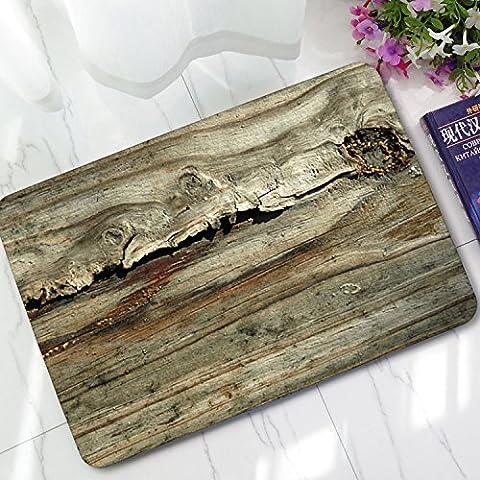 zmvise Vintage vertikalen Streifen Holz Muster oder Star Flagge Print schmutzabweisend Farbe Fußmatte Fußmatte Indoor Outdoor Mats, Polyester, Stil 6, 40 x 60 cm