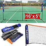 Best Volleyball Nets - Popamazing 5m outdoor portable Foldable Badminton Tennis Net Review