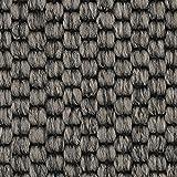 Teppichboden Auslegware | Sisal-Optik Schlinge | 400 und 500 cm Breite | grau anthrazit | Meterware, verschiedene Größen | Größe: Muster