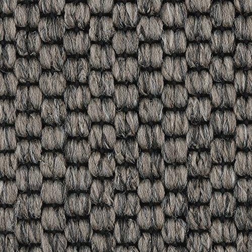 Teppichboden Auslegware | Sisal-Optik Schlinge | 400 und 500 cm Breite | grau anthrazit | Meterware, verschiedene Größen | Größe: 1 Muster