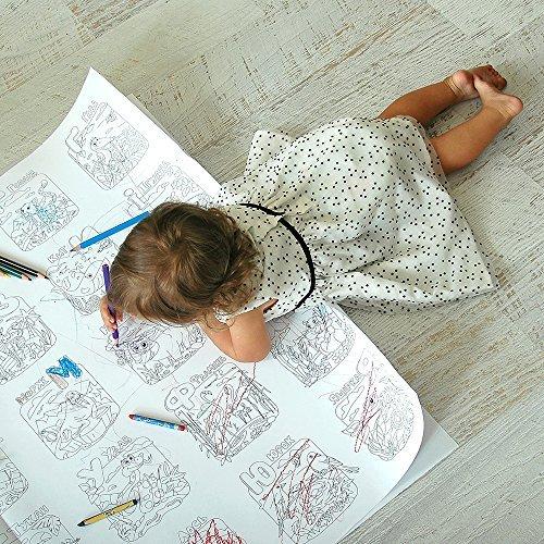 Färben für Kinder Und wer ist zu Hause? Malvorlagen für Kinder und Erwachsene. Färben Sie mich Plakate für Familie XXL Größe