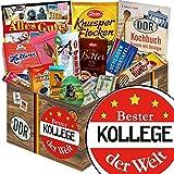 Bester Kollege | Schokolade Korb | Geschenkkorb | Bester Kollege | coole Geschenkideen für die besten Kollegen | mit Mokka Bohnen, Kalter Hund und mehr