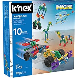 K'Nex KNEX Imagine - Juego de 10 construcciones para niños a Partir de 7 años, Juguete Educativo de ingeniería, 126 Piezas