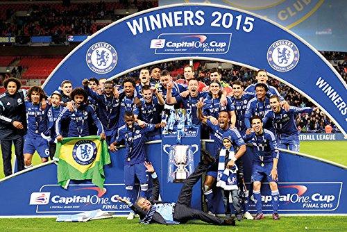 Fußball - Chelsea - Cup Winners Trophy - Sport Fußball Poster Druck - Größe 91,5x61 cm + 1 Ü-Poster der Grösse 61x91,5cm