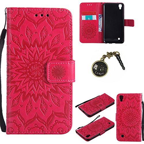 Preisvergleich Produktbild PU Silikon Schutzhülle Handyhülle Painted pc case cover hülle Handy-Fall-Haut Shell Abdeckungen für LG X Power (13,5 cm (5,3 Zoll) hülle +Staubstecker (4FF)