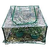 HAIPENG-gewächshaus Treibhaus Foliengewächshaus Tomatenhaus Pflanzenhaus Frühbeet Mini Garten Wachsend Tragbar Kunststoff PVC Abdeckung Balkon (Farbe : Klar, größe : 90X90cm)