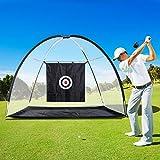 Filet Golf Driving Golf Professionnel Filet d'entrainement avec Cible 3,05L x 1,4l x 2,13H m Noir Blanc 02