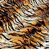 Kurzhaar Kunstfell als Meterware - tolle Tierfell-Imitat Stoffe (Tiger)