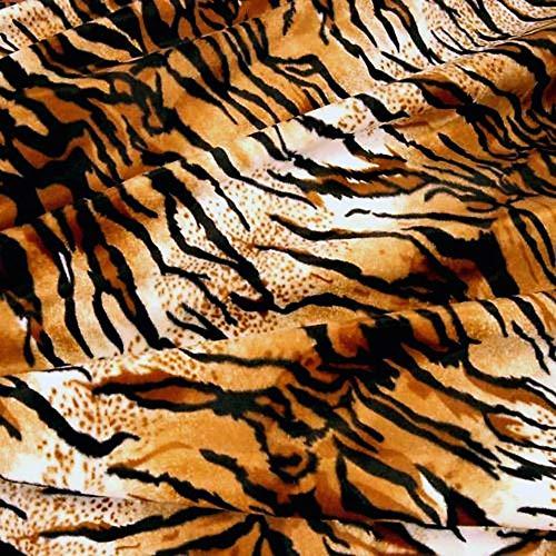 Kostüm Tiger Weißen Plüsch - Kurzhaar Kunstfell als Meterware - tolle Tierfell-Imitat Stoffe (Tiger)