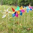 9 x Decorative Garden Windmills Flower Bed Plant Pot Ornament Art Decoration Set
