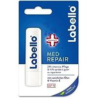 Labello Med Repair - 4,8 g, balsamo per le labbra con crema solare (SPF 15) e vitamina E per la protezione intensiva…