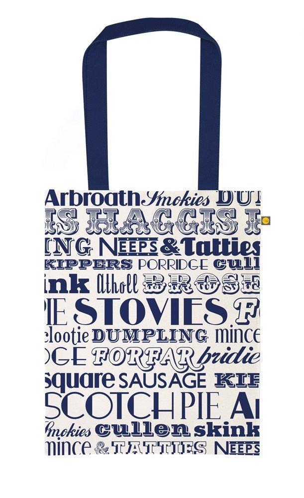 Scottish Dinner Canvas Bag (Tote) - handmade-bags