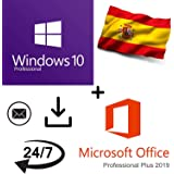Oferta combinada - Windows 10 Pro + Office 2019 Professional Plus Key - 32/64 Bit - 100% activable online - Entrega 1-2 horas